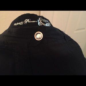 Midnight lack pant w/ embellished back pockets
